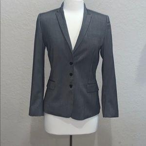 Tahari Grey Structured Blazer